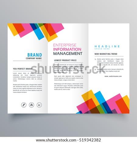 Colorato business brochure modello carta Foto d'archivio © SArts