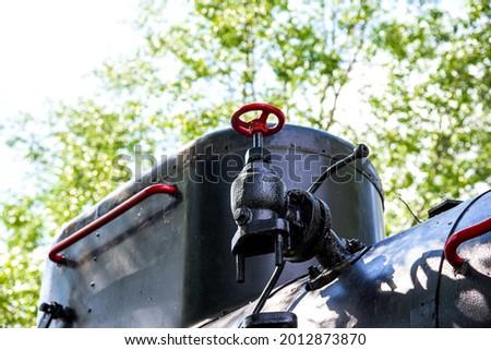 Vieux haut fumée noir acier Photo stock © Hofmeester