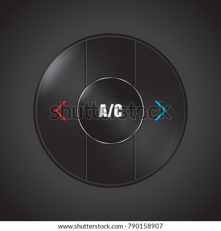 special conditioner and air flow control button design for moder Stock photo © place4design