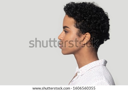 Closeup stylish photo of gorgeous mixed-race woman with colorful Stock photo © deandrobot