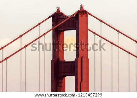 Köprü Golden Gate Köprüsü atış Kaliforniya ABD gökyüzü Stok fotoğraf © yhelfman