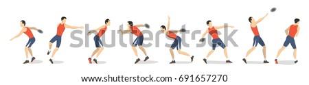 Disco disco seguir campo evento atleta Foto stock © patrimonio