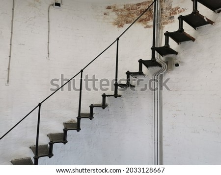 historic staircase inside point arena lighthouse in california stock photo © meinzahn