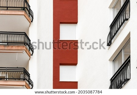 Old condominium facades texture in Spain Stock photo © lunamarina