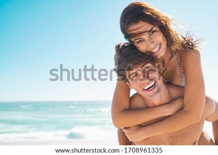 Felice spiaggia amore insieme Foto d'archivio © juniart