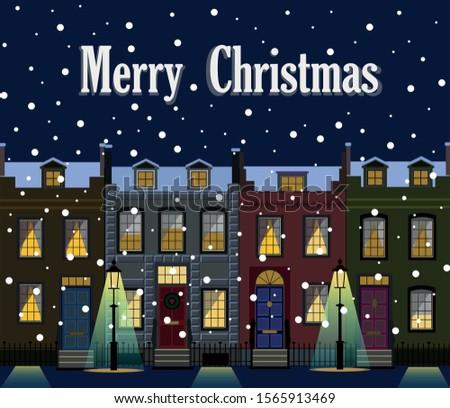 Christmas Streetlight Stock photo © derocz