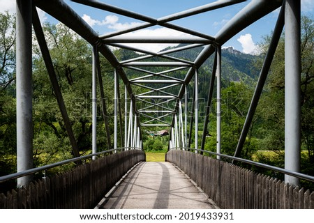 Metaal brug water voorraad foto natuur Stockfoto © nalinratphi