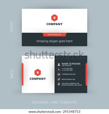 flat style website template   elegant design for business stock photo © davidarts