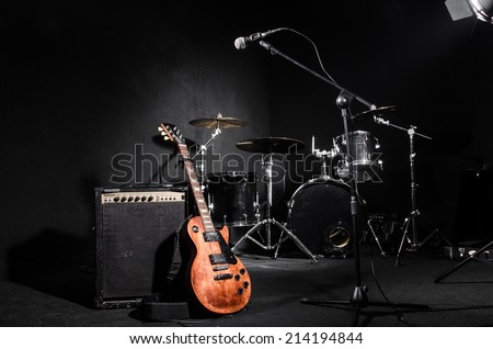 набор музыкальные инструменты концерта музыку фон искусства Сток-фото © Elnur