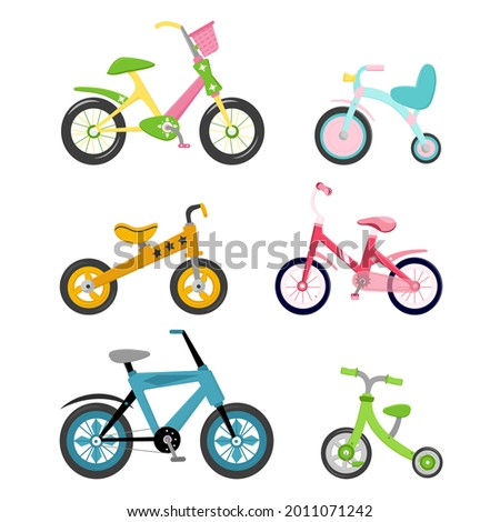 Bright children's tricycle with handle Stock photo © GeniusKp