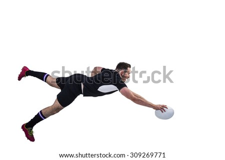 Rugby jugador determinado deporte negro masculina Foto stock © wavebreak_media