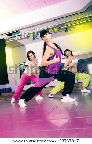 woman in sport dress for aerobics, zumba, fitness or gym Stock photo © val_th