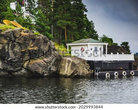 Сток-фото: озеро · пейзаж · док · берега