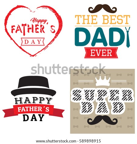 digitally generated image of heart shape with fathers day text against father and son pretending to stock photo © wavebreak_media