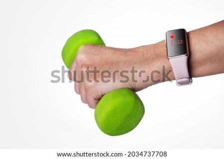 Hand with smartwach and helath concept Stock photo © ra2studio