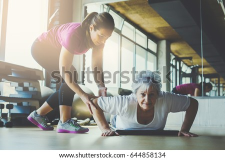 altos · mujer · personal · fitness · entrenador · deporte - foto stock © kzenon