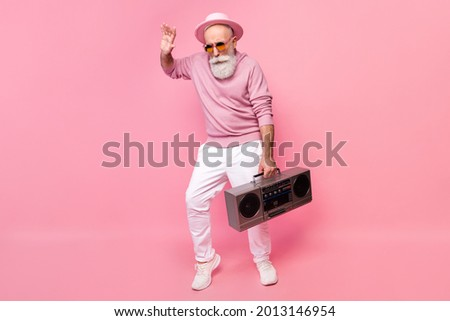 people dancing senior people relaxing music box stock photo © robuart