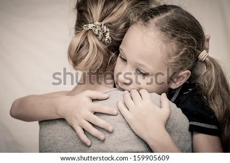 печально дочь матери гостиной семьи Сток-фото © Lopolo