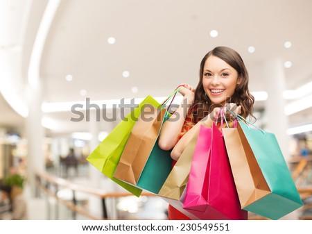 женщину Mall продажи люди красочный Сток-фото © dolgachov
