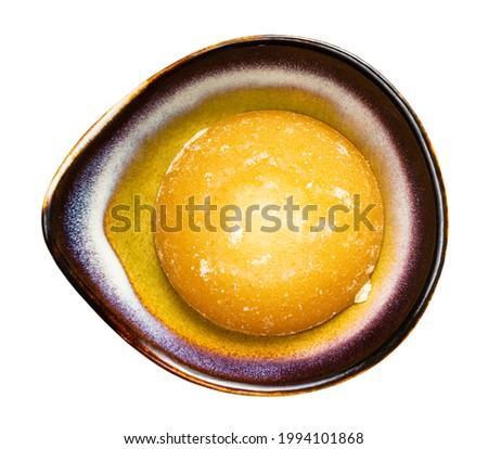 Fehér kerámia tál tányérok természetes barna Stock fotó © DenisMArt