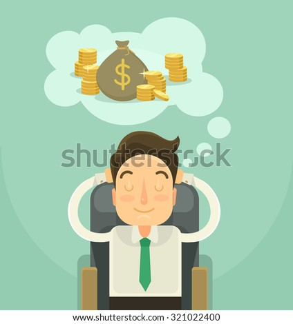üzletember álmodik pénz dollár üzlet bank Stock fotó © Elnur
