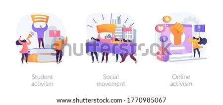 Politic social schimba abstract vector ilustratii Imagine de stoc © RAStudio
