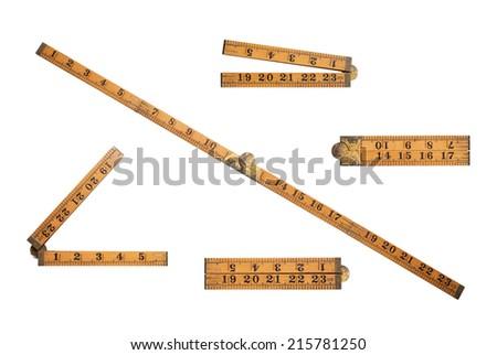 Old folding carpenter's ruler Stock photo © Stocksnapper