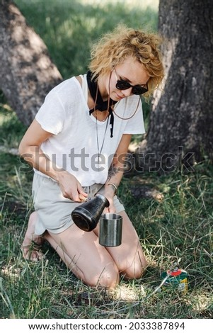fair-haired girl pouring coffee Stock photo © photography33