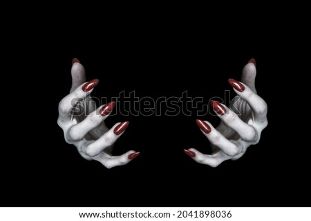 Red Bloody Scary Hand Reaching on White Stock photo © HaywireMedia