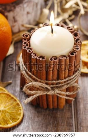 свечу · корицей · высушите · оранжевый · чай · продовольствие - Сток-фото © tannjuska