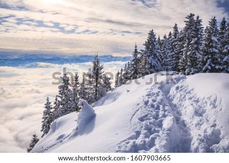 Ponto montanha alpes Áustria europa céu Foto stock © val_th