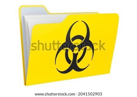 File folder with bio hazard sign Stock photo © gladiolus