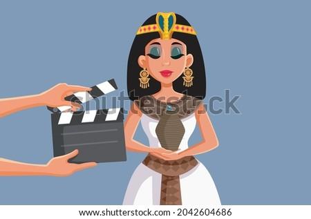 Eski mısır kadın rol güzel kadın kraliçe Stok fotoğraf © Aikon