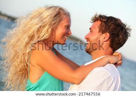 Forró szexi pár fiatalember lány játszik Stock fotó © Studiotrebuchet