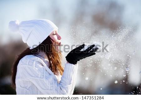 aantrekkelijke · vrouw · winter · bos · vrouw · boom · sexy - stockfoto © Nejron