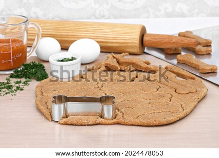 Making homemade pumpkin dog biscuits Stock photo © rojoimages