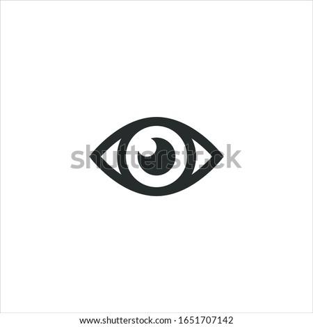 Szem ikon illusztráció üzlet absztrakt egészség Stock fotó © kiddaikiddee