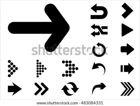 seta · direito · vermelho · cor · ícone · conjunto - foto stock © ahasoft