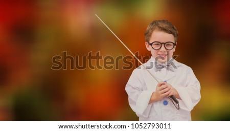 Digitálisan generált kép mosolyog fiú tart Stock fotó © wavebreak_media
