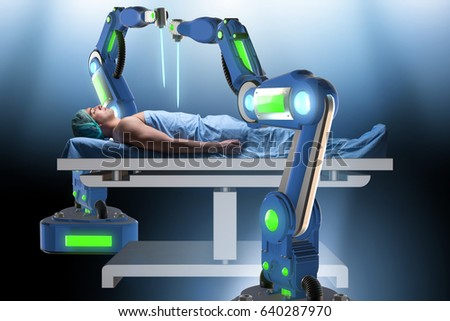 Stock photo: The surgery performed by robotic arm