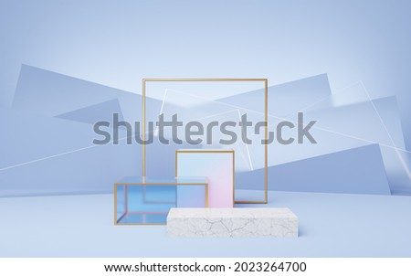 metal template background against glass cubes Stock photo © kayros