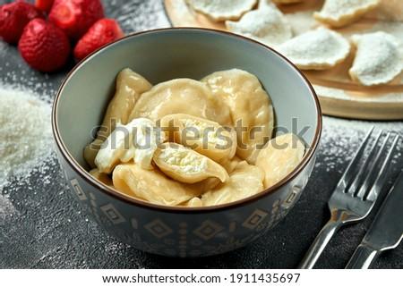 詰まった キャベツ キノコ ディナー ボード ストックフォト © joannawnuk