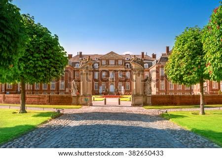 Paleis Duitsland stad noorden gras tuin Stockfoto © borisb17