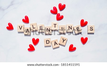 happy valentines day red hearts background design Stock photo © SArts
