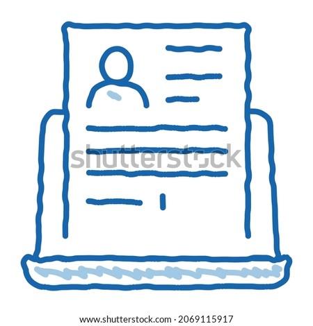Teljes számítógép információ személy ikon vektor Stock fotó © pikepicture