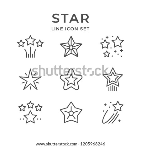 Review Stars Icon Vector Outline Illustration Stock photo © pikepicture