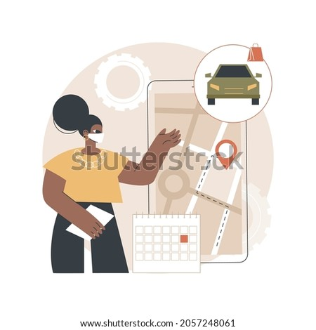 Set quick and efficient pickup service abstract concept vector illustration. Stock photo © RAStudio