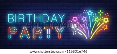 bursting firework background in neon style design Stock photo © SArts