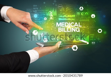 Close-up of a touchscreen with medical inscription Stock photo © ra2studio