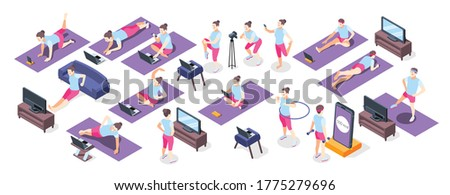 Jumping Equipment isometric icon vector illustration Stock photo © pikepicture